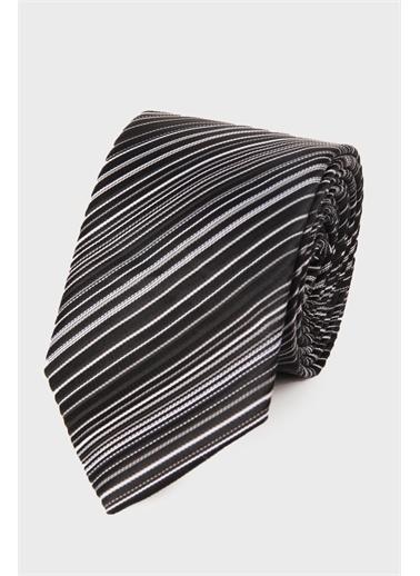 Hatemoğlu Desenli Kravat Siyah